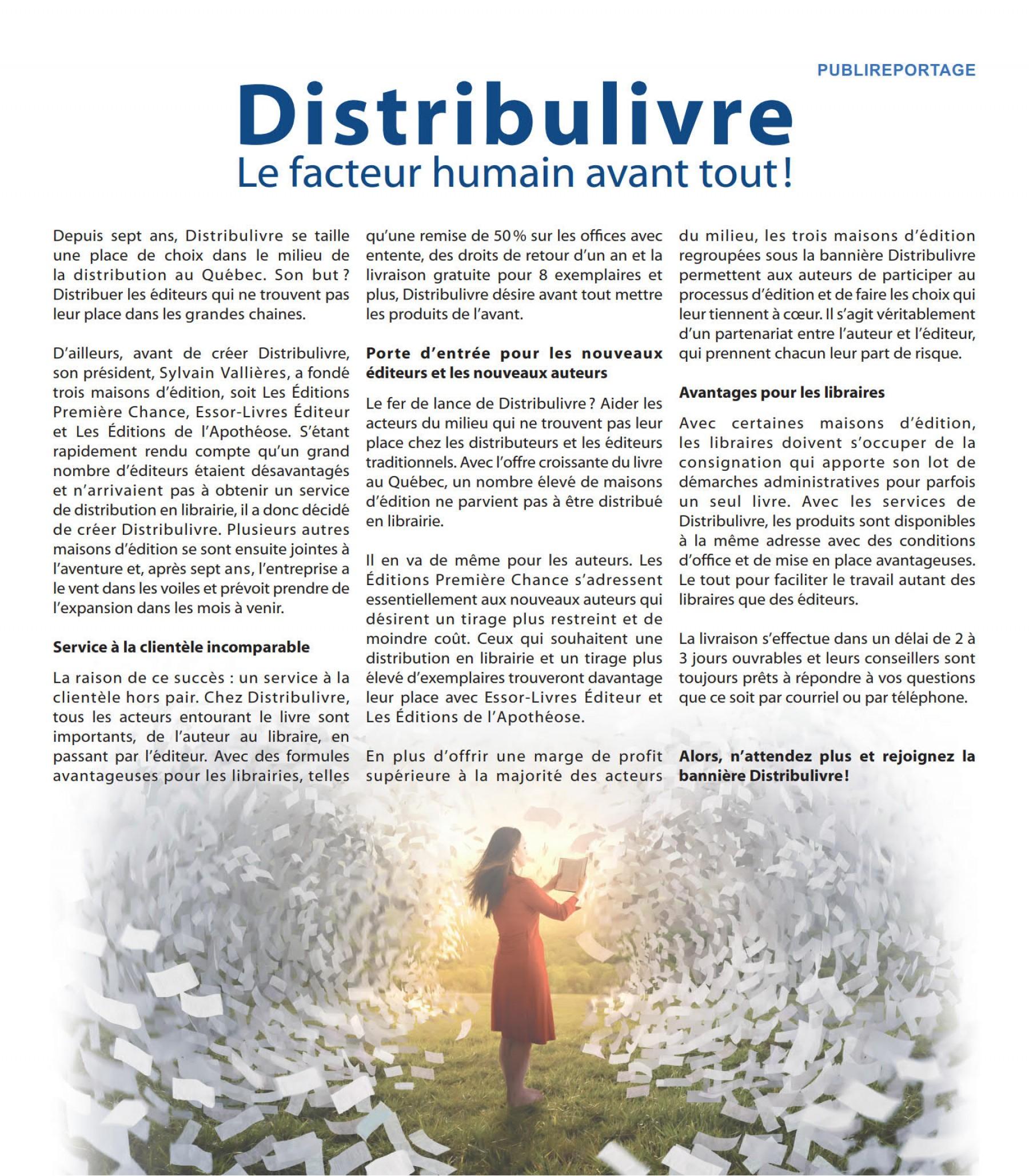 Publi reportage distribulivre